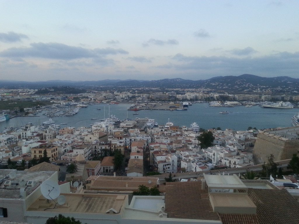 Views across ibiza town from the top of Dalt Villa