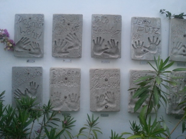 Hand prints on the walls around Dalt Villa