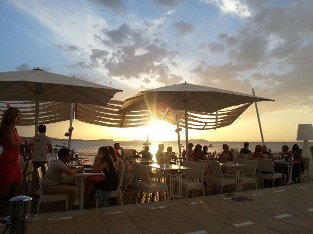 Ibiza Sunset from Mint Lounge