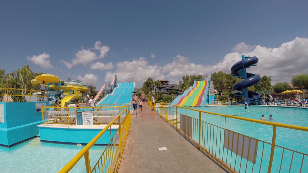 Slides, Tubes and Pools at Aguamar Water Park Ibiza