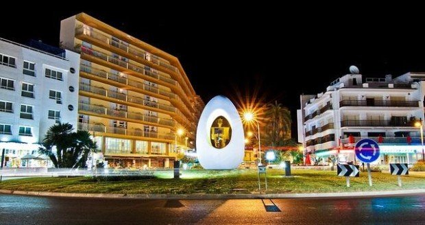 The Egg San Antonio Ibiza dedicated to Christopher Columbus