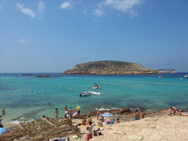 The islands off Cala Conta Ibiza