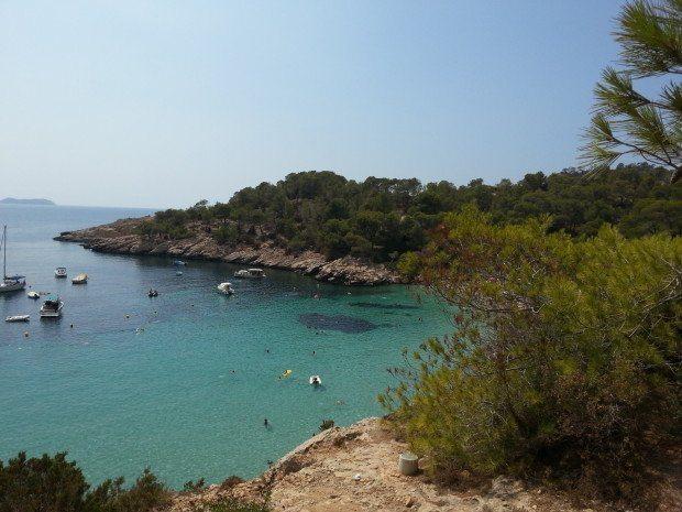 Looking out over Cala Salada Ibiza