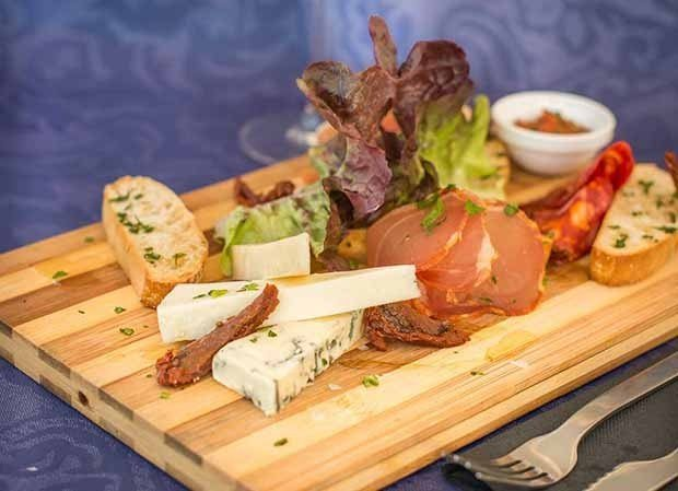 Meat and cheese board at Tapas Ibiza