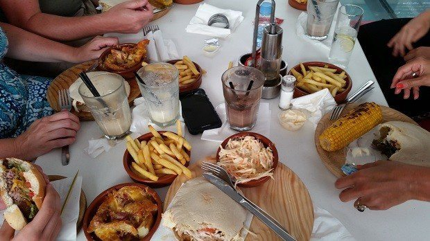 Ibiza Rocks Bar a true feast including the legendary Chicken Pitta