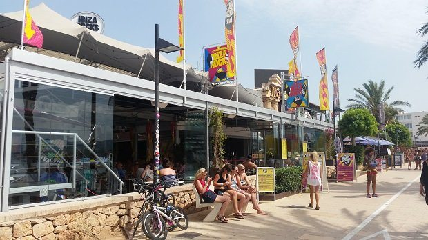 Ibiza Rocks Bar San Antonio, Ibiza, where Adam has worked his past few summers in Ibiza
