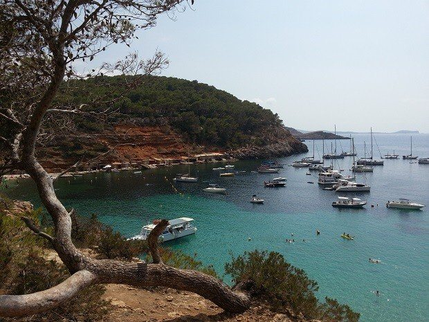 We love exploring Ibiza, this is Cala Salada just north of San Antonio