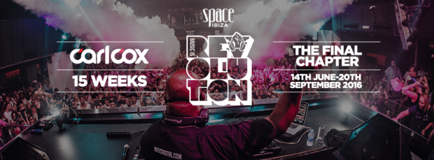 The first announcement for Carl Cox Music is Revolution - The Final Chapter at Space