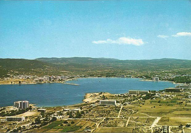 San Antonio Bay looking towards the town in the 1960s