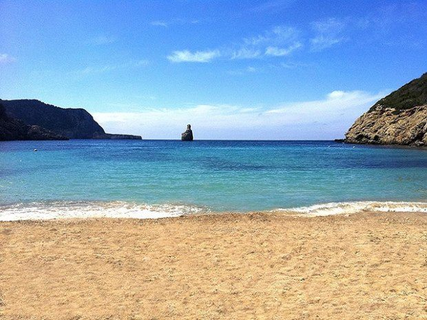 Ibiza beaches in October are quieter and heavenly