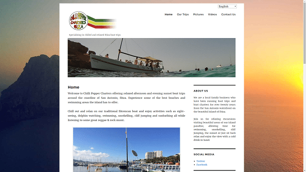Chilli Pepper Charters New Website