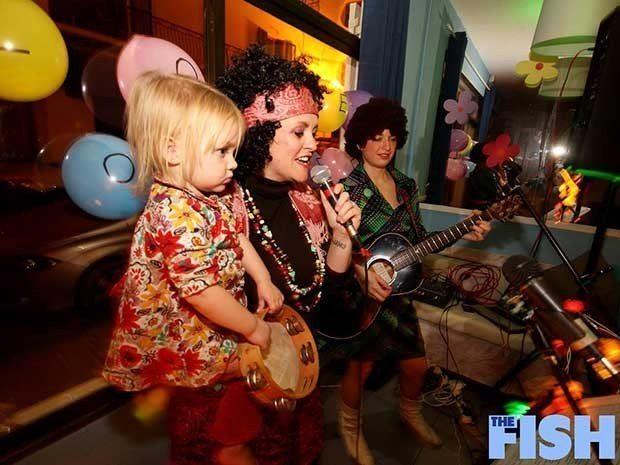 The Ibiza winter community celebrating San Antonio's Flower Power festival