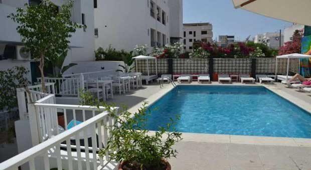 The Fish Ibiza pool, terrace and BBQ area