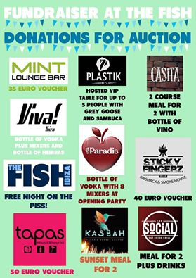 The Fish Ibiza Fundraiser Saturday 16th April 2016