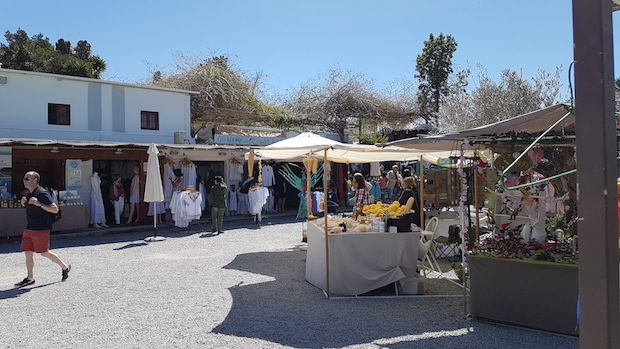Las Dalias Hippy Market in Sant Carles open on Saturdays