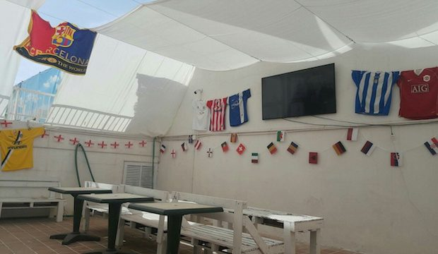 Watch the Euros on the Fish Ibiza huge 65 inch outdoor screen