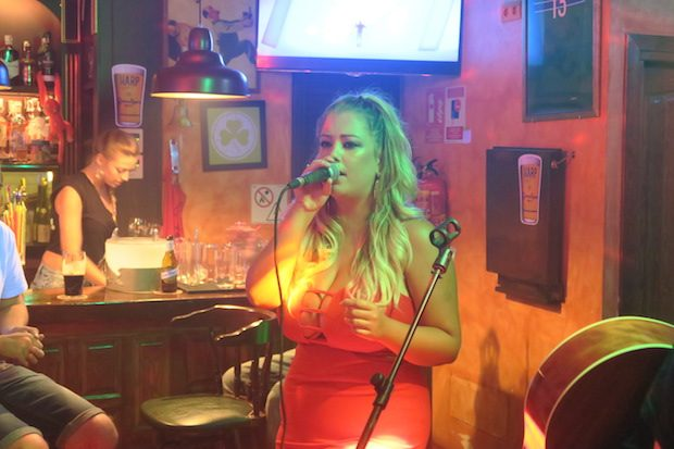 Those that can sing do alongside Paddy Slater at Shenanigans
