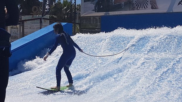 Youngest riding the wave at Surf Lounge Ibiza