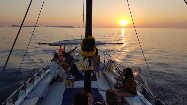 Sunset from the sea with Chilli Pepper Charters, Our Top 5 Sunset Spots in Ibiza